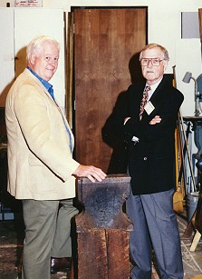 Hal Schremmer & Bill Frederick at a Society exhibition