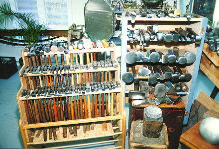 A Small Collection Of Copper Alloy Kitchen Implements